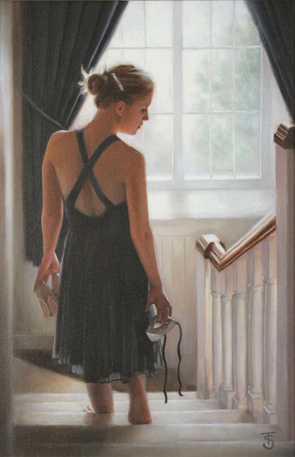Tina Spratt, Original oil painting on canvas, Maybe Without frame image. Click to enlarge
