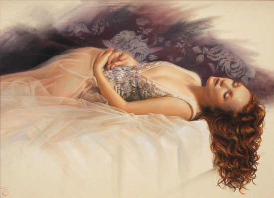 Tina Spratt, Pastel, Evanescent Without frame image. Click to enlarge