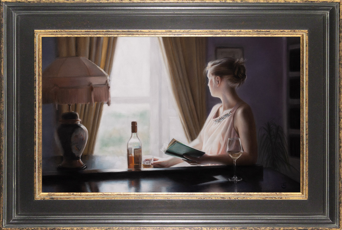 Tina Spratt, Pastel, Distant Gaze, click to enlarge