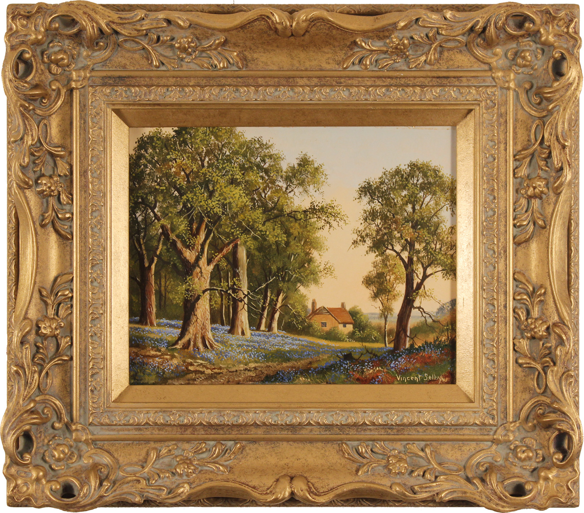 Vincent Selby, Original oil painting on panel, Spring, One of a Set of 'Four Seasons', click to enlarge