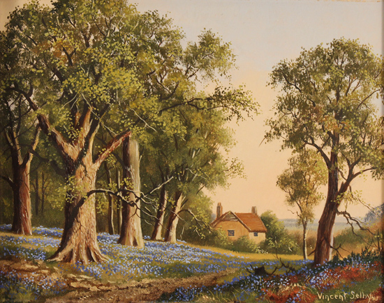Vincent Selby, Original oil painting on panel, Spring, One of a Set of 'Four Seasons' Without frame image. Click to enlarge