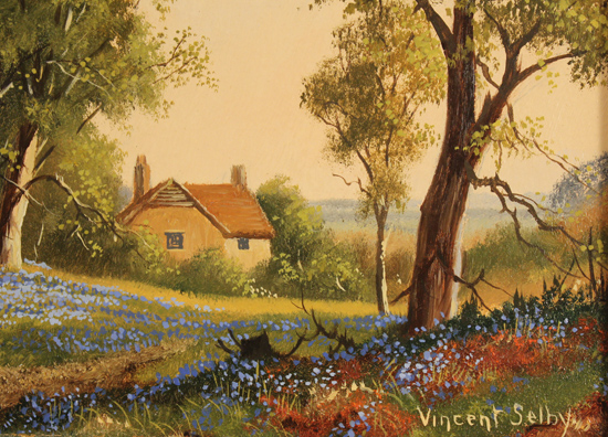 Vincent Selby, Original oil painting on panel, Spring, One of a Set of 'Four Seasons' Signature image. Click to enlarge