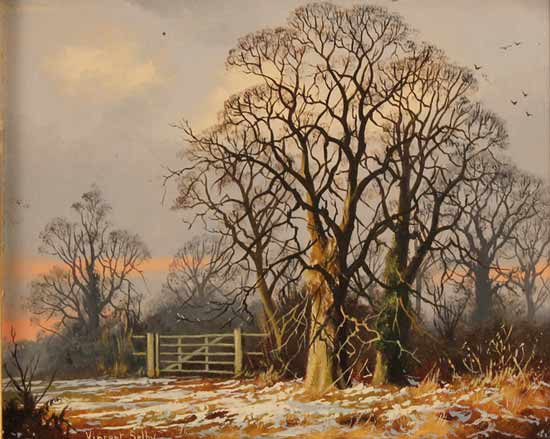 Vincent Selby, Original oil painting on panel, Winter, One of a Set of 'Four Seasons' No frame image. Click to enlarge