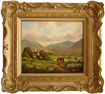 Vincent Selby, Original oil painting on panel, Country Scene and Horse