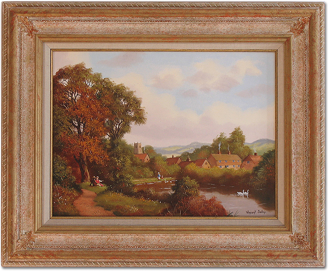 Vincent Selby, Original oil painting on panel, Country Scene, click to enlarge