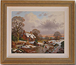 Vincent Selby, Original oil painting on panel, Country Scene Large image. Click to enlarge