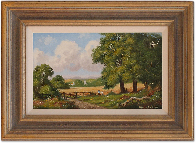 Vincent Selby, Original oil painting on panel, Country Scene. Click to enlarge