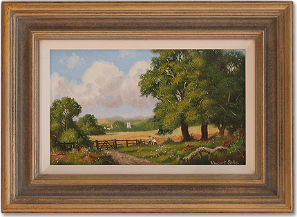 Vincent Selby, Original oil painting on panel, Country Scene Without frame image. Click to enlarge