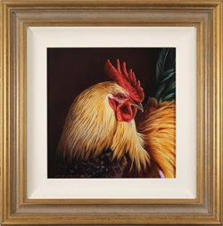 Wayne Westwood, Original oil painting on panel, Cockerel