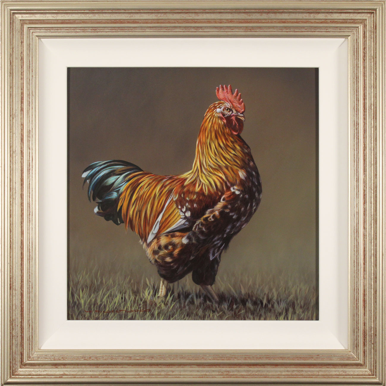 Wayne Westwood, Original oil painting on panel, The Cockerel, click to enlarge