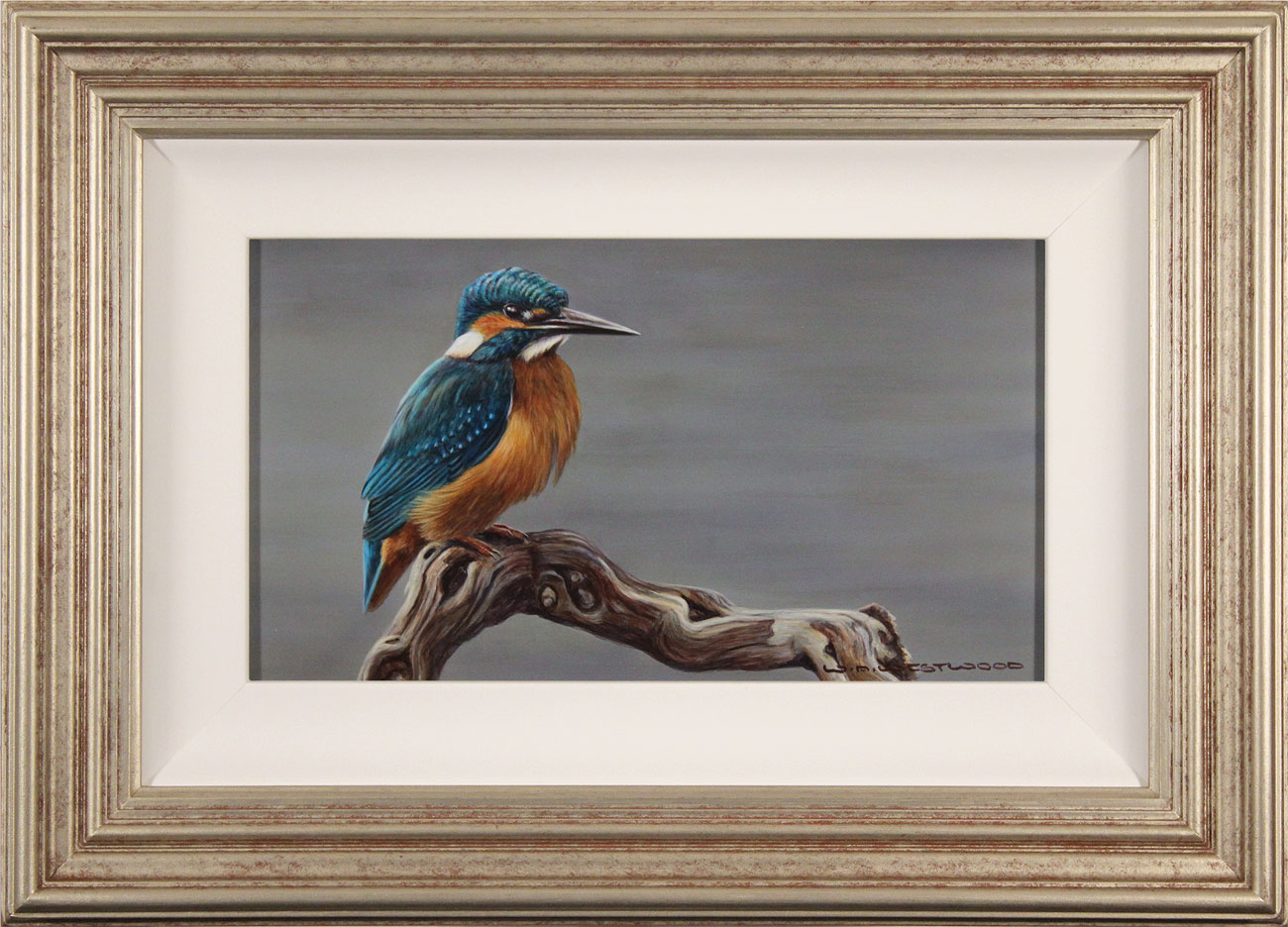 Wayne Westwood, Original oil painting on panel, Kingfisher, click to enlarge