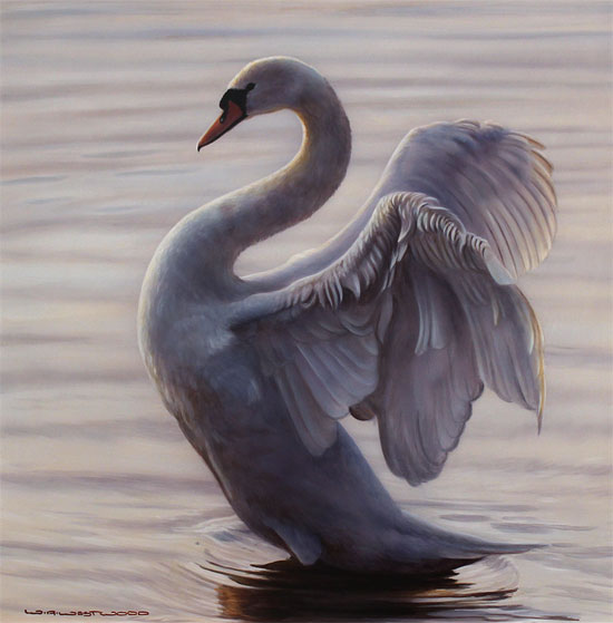 Wayne Westwood, Original oil painting on panel, Flight of Grace No frame image. Click to enlarge