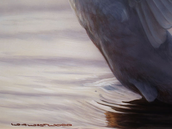 Wayne Westwood, Original oil painting on panel, Flight of Grace Signature image. Click to enlarge