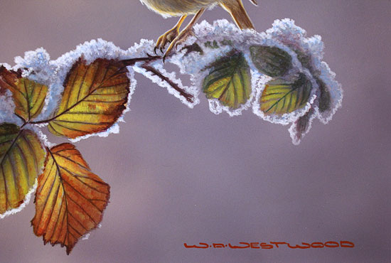 Wayne Westwood, Original oil painting on panel, First Frost Signature image. Click to enlarge