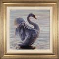 Wayne Westwood, Original oil painting on panel, White Swan Large image. Click to enlarge