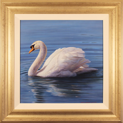 Wayne Westwood, Original oil painting on panel, The Swan