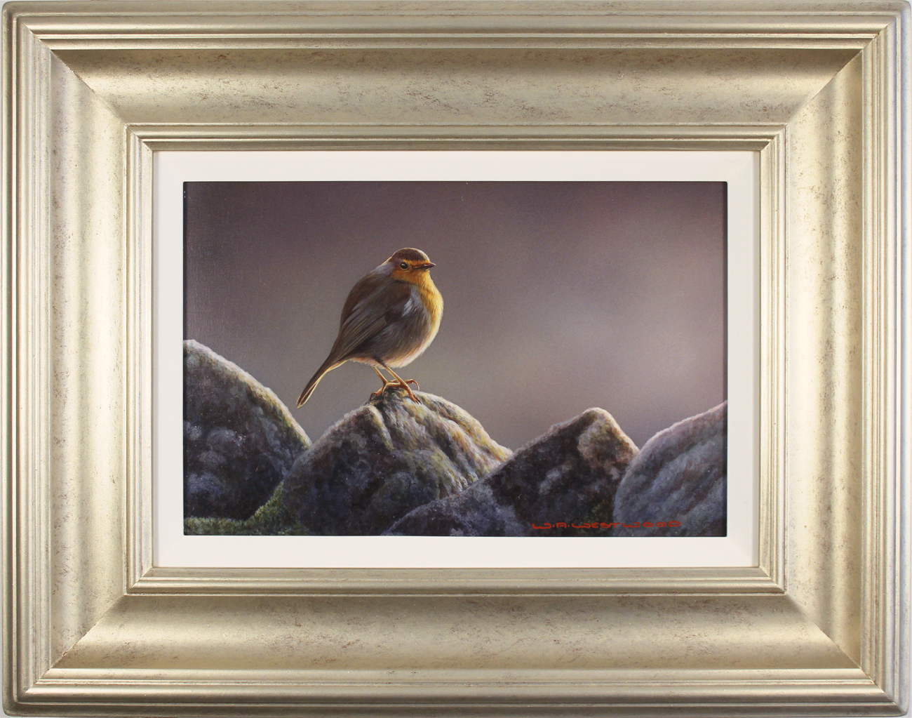 Wayne Westwood, Original oil painting on panel, The Country Robin. Click to enlarge