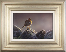 Wayne Westwood, The Country Robin, Original oil painting on panel