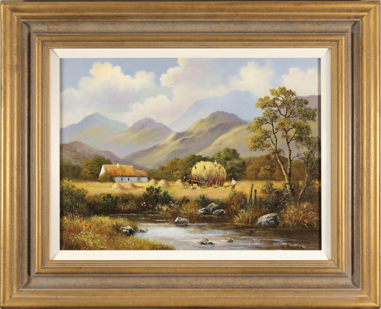 Wendy Reeves, Original oil painting on canvas, Haymaking, click to enlarge
