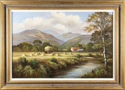 Wendy Reeves, Highland Harvest, Original oil painting on canvas