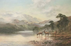 Wendy Reeves, Original oil painting on canvas, Highland Scene