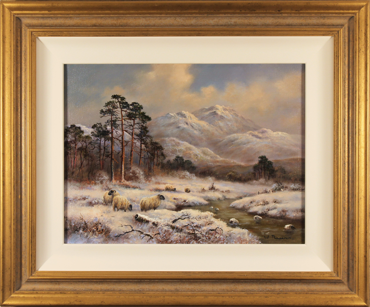 Wendy Reeves, Original oil painting on canvas, Winter in the Scottish Highlands. Click to enlarge