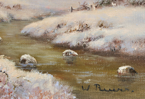 Wendy Reeves, Original oil painting on canvas, Winter in the Scottish Highlands Signature image. Click to enlarge