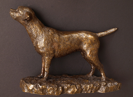 Wendy Hunt, Bronze, Border Terrier Without frame image. Click to enlarge