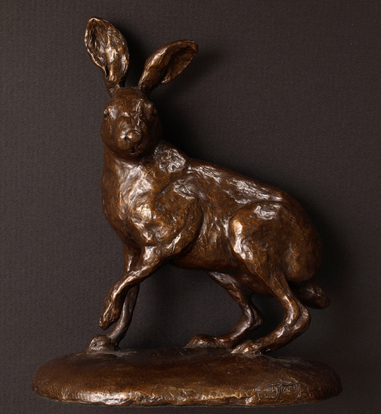 Wendy Hunt, Bronze, Hare, click to enlarge