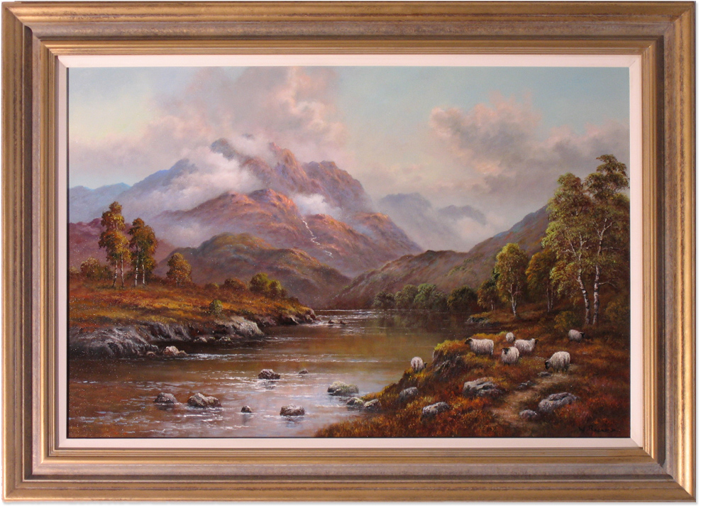 Wendy Reeves, Original oil painting on canvas, Scottish Highlands. Click to enlarge