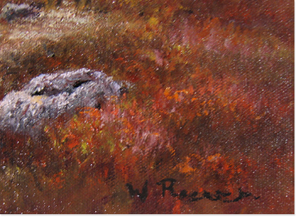 Wendy Reeves, Original oil painting on canvas, Scottish Highlands Signature image. Click to enlarge