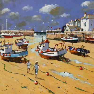 Alan Smith, Sun, Sea and Salt Air, Original oil painting on panel