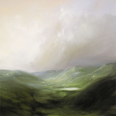 Clare Haley, The Rolling North, Original oil painting on panel