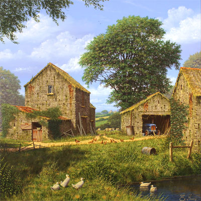 Edward Hersey, Days Gone By, Original oil painting on canvas