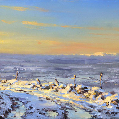 Julian Mason, Winter Light, Original oil painting on canvas