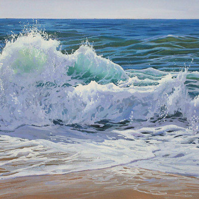 Sergio Herrero, Crashing Tides, Original oil painting on panel