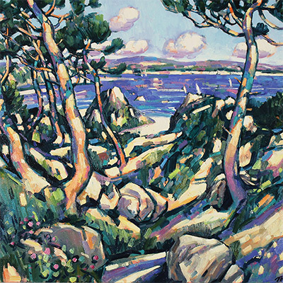 Terence Clarke, Wild Pines near Theoule sur Mer, Original oil painting on canvas