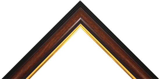 Wide Walnut and Gold